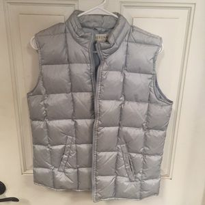 Silver puffy vest